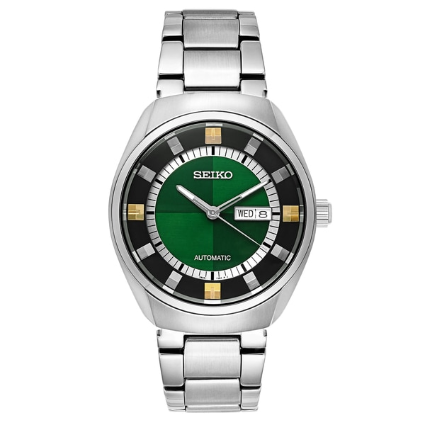 Seiko Men's SNKN77 'Recraft Series' Green Dial Automatic Self-Winding Watch