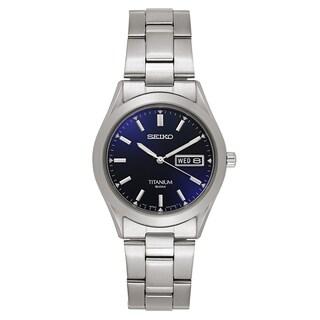 Seiko Men's SGG709 'Titanium' Titanium Navy Dial Japanese Quartz Watch