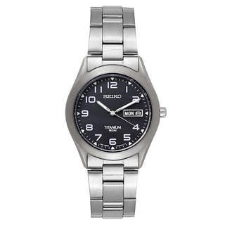Seiko Men's SGG711 'Titanium' Black Dial Japanese Quartz Watch https://ak1.ostkcdn.com/images/products/16004398/P22397619.jpg?impolicy=medium