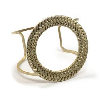 Sweet Romance Modern Circle Mid-Century Cuff Bracelet