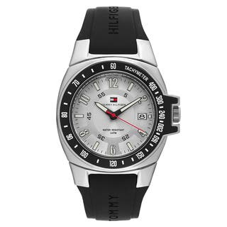 Tommy Hilfiger Men's 1790485 'River' Rubber Silver Dial Japanese Quartz Watch|https://ak1.ostkcdn.com/images/products/16004464/P22397626.jpg?impolicy=medium
