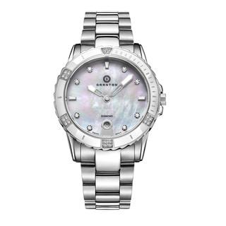 Granton Women's Silvertone Diamond Swiss Quartz Dial Watch