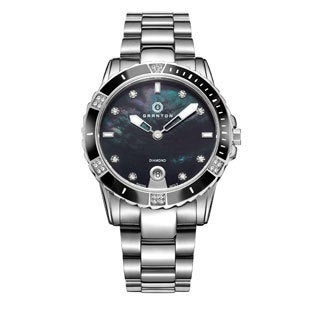 Granton Women's 'Influence' Diamond Swiss Quartz Stainless Steel Bracelet Watch 36mm (4 options available)