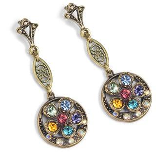 Sweet Romance Rainbow Flower Vintage Earrings