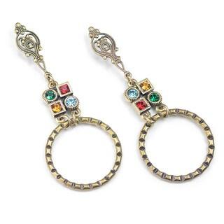 Sweet Romance Geometric Modern Circle Deco Earrings