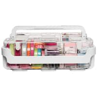 Caddy Organizer W/Small, Medium & Large Compartments-White