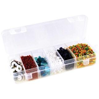 """Organizer Box W/Lid & 6 Dividers-6.75""""X2.25""""X1.1875"""""""