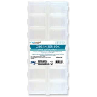 """Organizer Box W/Snap Lids 14 Compartments-9""""X4""""X1"""""""