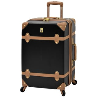 London Fog Retro Hardside Collection 24-inch Expandable Spinner Upright Suitcase