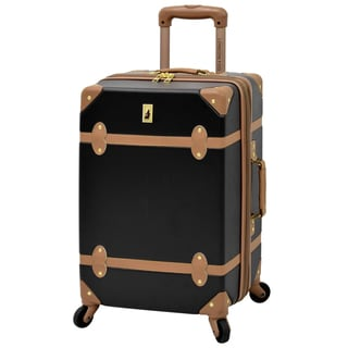 London Fog Retro Hardside Collection 20-inch Expandable Carry-on Spinner Suitcase