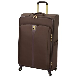 London Fog Knightsbridge Hyperlight Brown 29-inch Expandable Upright Spinner Suitcase