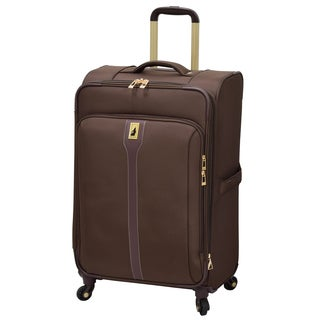 London Fog Knightsbridge Hyperlight Brown 25-inch Expandable Upright Spinner Suitcase