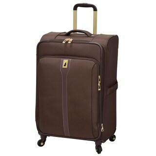 London Fog Knightsbridge Hyperlight Brown 25-inch Expandable Upright Spinner Suitcase