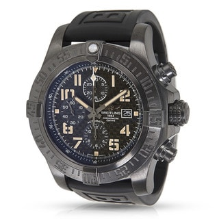 breitling men s watches shop the best deals for 2017 pre owned breitling super avenger ii m133715n bd55 mens watch in black steel