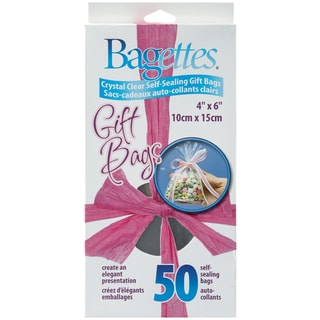 """Bagettes Self-Sealing Gift Bags 50/Pkg-4""""X6"""" Clear"""