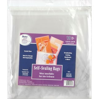 "Self-Sealing Bags 18/Pkg-12.25""X12.25"" Clear"