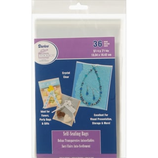 "Self-Sealing Bags 36/Pkg-5.25""X7.25"" Clear"