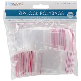 "Ziplock Polybags 200/Pkg-1.5""X1.5"" Clear"