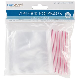 "Ziplock Polybags 60/Pkg-3""X3"" Clear"