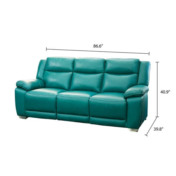 Astounding Shop Abbyson Leyla Turquoise Top Grain Leather Push Back Forskolin Free Trial Chair Design Images Forskolin Free Trialorg