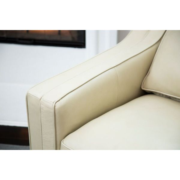 contemporary chaise top grain leather abbyson allegra cream top grain leather sofa free shipping today