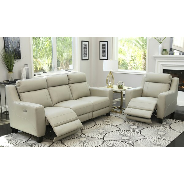 Abbyson Stanford Top Grain Leather 2 Piece Power Reclining Set Free Shipping Today Overstock