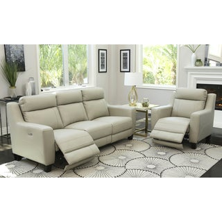 Abbyson Stanford Top Grain Leather 2 Piece Power Reclining Set
