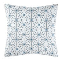 Adrienne Geo Blue Geometric Embroidered Pillow