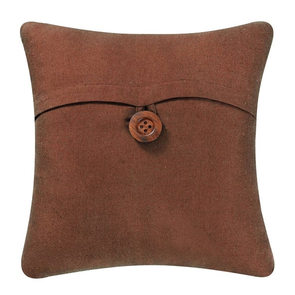 Linen/Cotton Blend Envelope Feather Down 18 Inch Throw Pillow