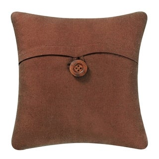 Brown Envelope Throw Pillow
