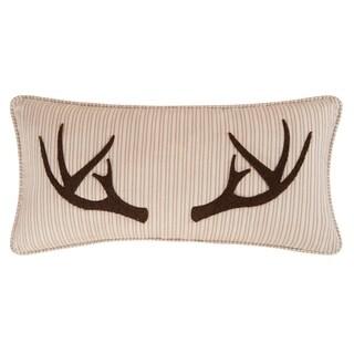 Sleepy Forest Brown Cotton Blend Throw Pillow