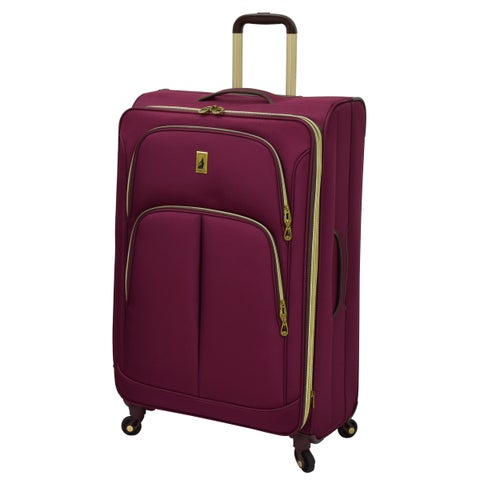London Fog Coventry Collection Black 29-inch Expandable Upright Suitcase