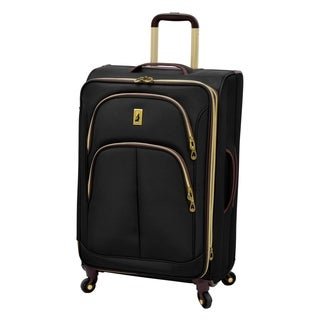 London Fog Coventry Collection Black 21-inch Expandable Carry-on Rolling Upright Suitcase
