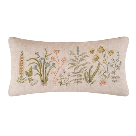 Anessa Embroidered 12x24 Throw Decorative Accent Throw Pillow