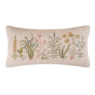 Anessa Embroidered 12x24 Throw Pillow