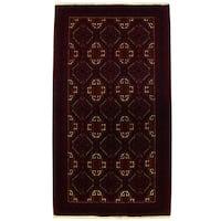 Herat Oriental Persian Hand-knotted Tribal Balouchi Wool Runner (3'2 x 5'10)