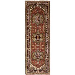 ecarpetgallery Serapi Heritage Red Wool Rug - 2'5 x 7'10