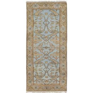 ecarpetgallery Royal Ushak Blue Wool Rug (2'6 x 6'0)