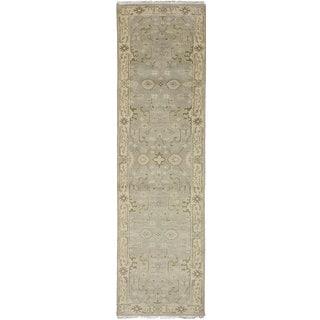 ecarpetgallery Royal Ushak Grey Wool Rug (2'6 x 9'11)