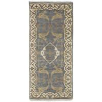 ecarpetgallery Royal Ushak Grey Wool Rug (2'7 x 6'0)