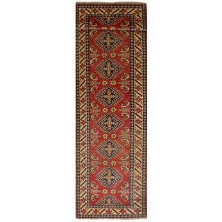 ecarpetgallery Finest Gazni Red Wool Rug (2'10 x 11'10)