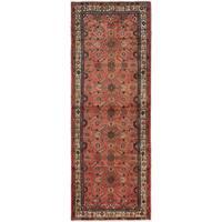 ecarpetgallery Hamadan Brown Wool Rug (3'7 x 9'8)