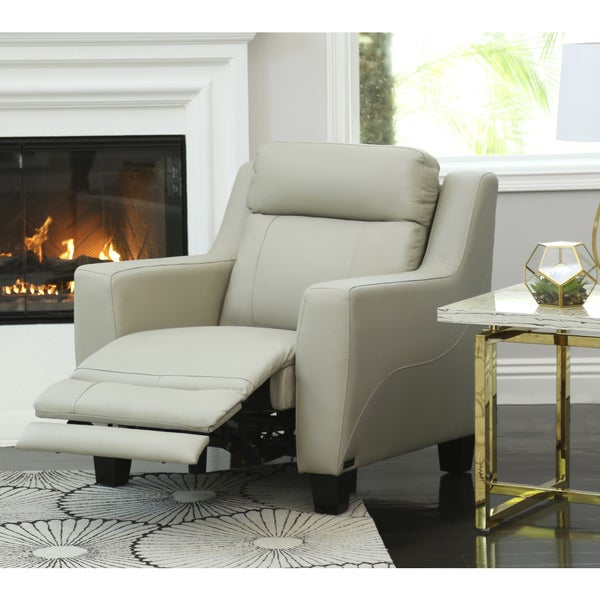 Shop Abbyson Stanford Leather Power Recliner On Sale
