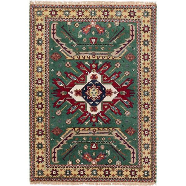 Shop Ecarpetgallery Royal Kazak Green Wool Rug