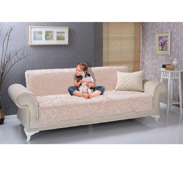 chiara rose antislip armless 1 piece sofa shield furniture protector