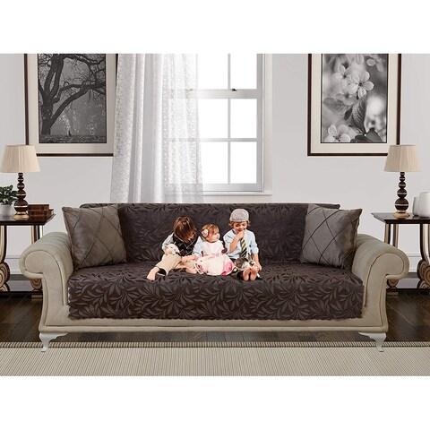 Chiara Rose Anti-slip Armless 1- Piece Pet Dog Couch Shield Furniture Protector Sofa Loveseat Chair Cover Acacia