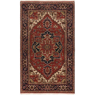 ecarpetgallery Serapi Heritage Red Wool Rug (4'10 x 8'1)