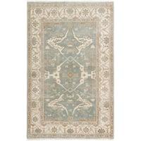 ecarpetgallery Royal Ushak Grey Wool Rug (4'11 x 7'8)