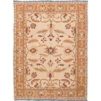 ecarpetgallery Chobi Sumak Rug Ivory Wool Sumak Rug - 5'1 x 6'8