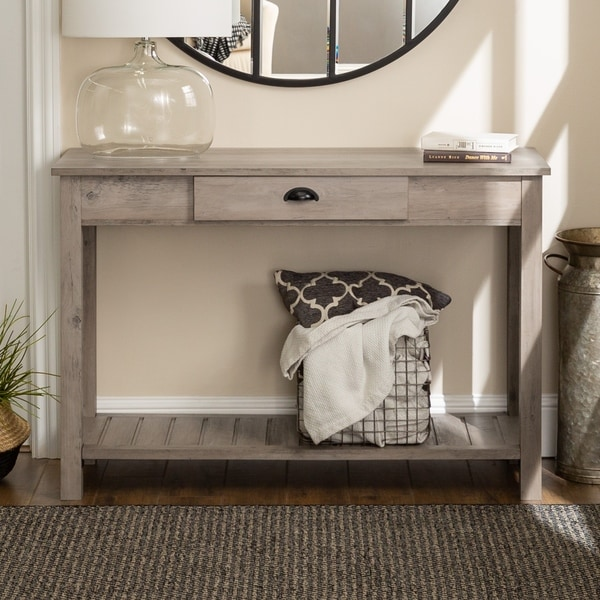Middlebrook Designs 48-inch Rustic Farmhouse Entry Table. Opens flyout.